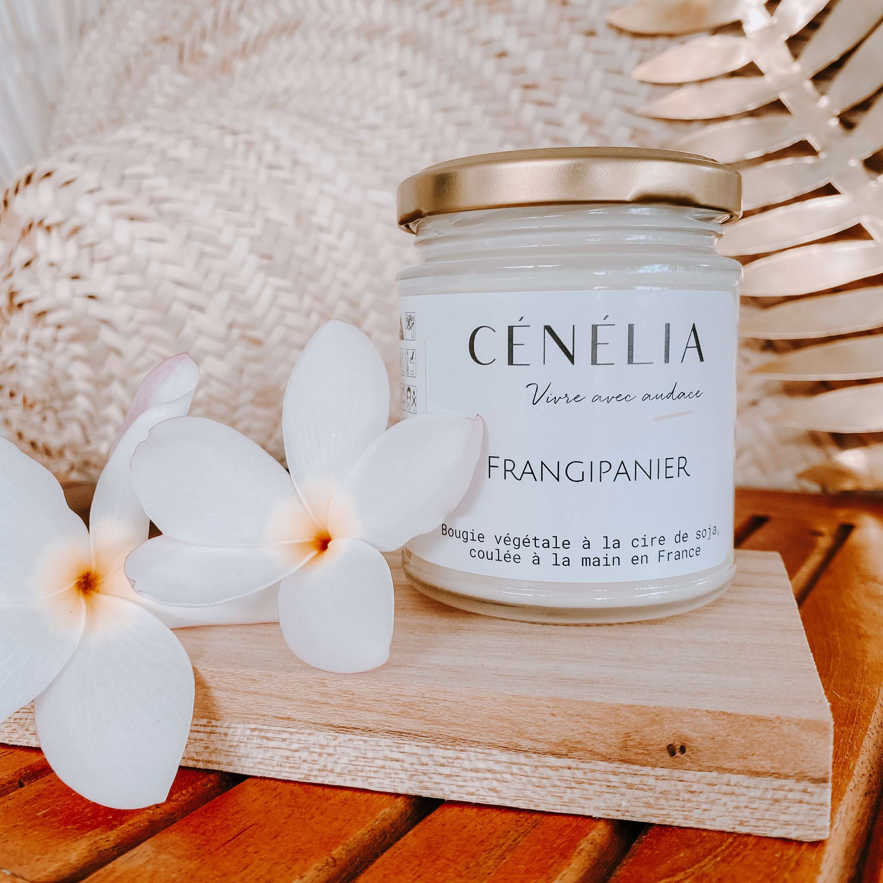 bougie végétale - Bougie parfumée à la fleur de frangipanier - Cénélia.jpg