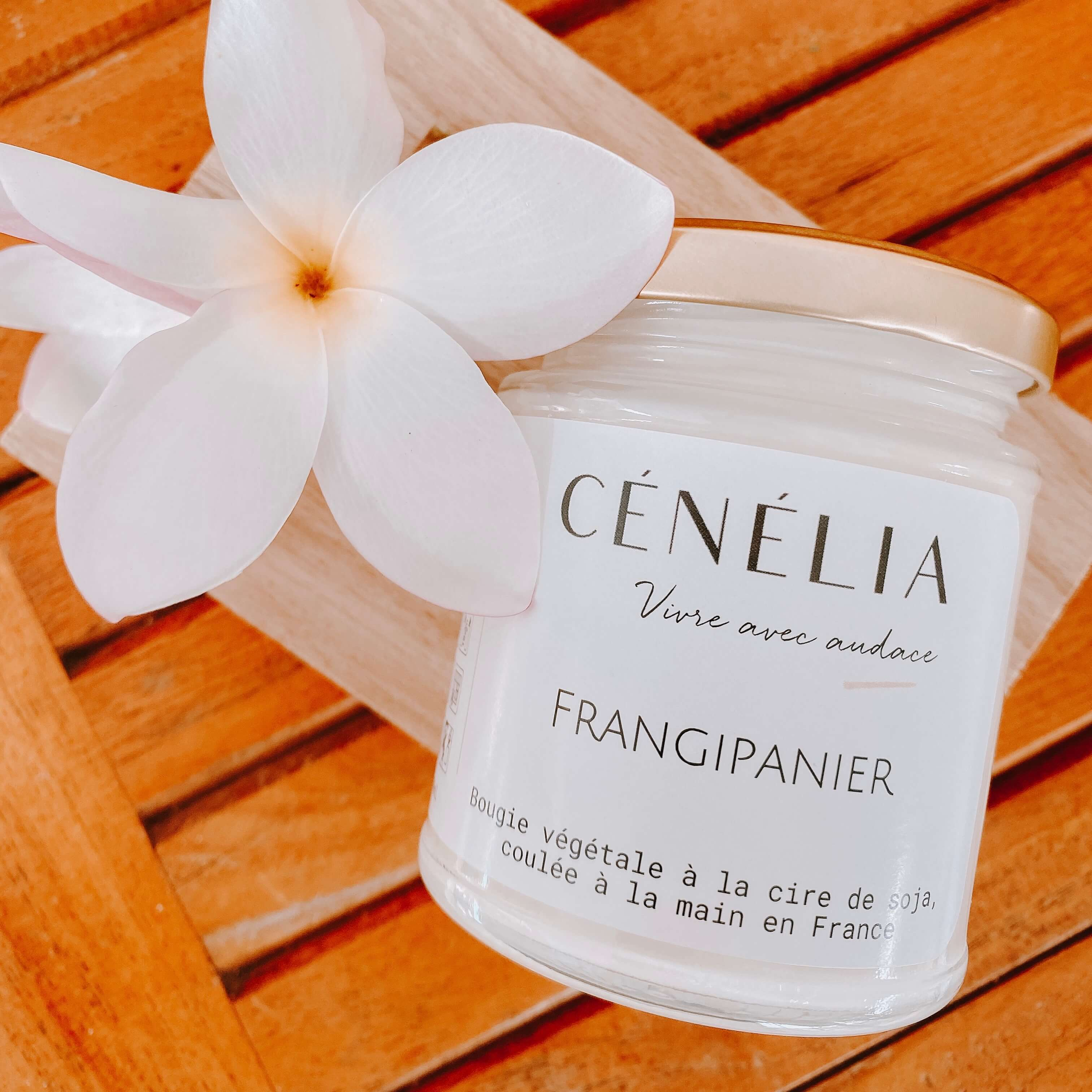 bougie végétale au frangipanier - Cénélia