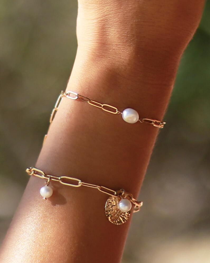 bracelet avec perle d'eau douce - Perla - Cénélia