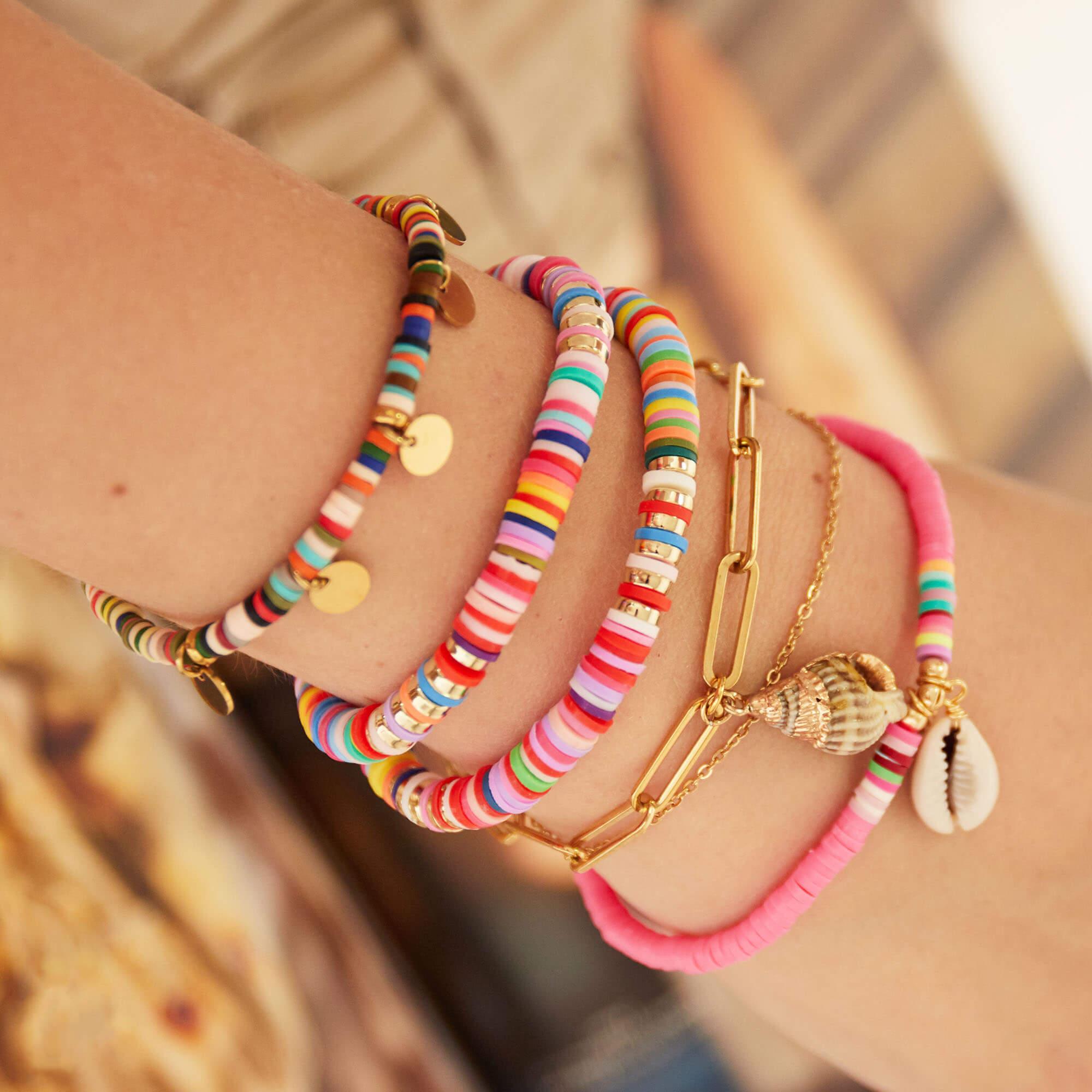 bracelet chaine double - bracelet femme mode - bracelet coquillage - Charlie - Cénélia