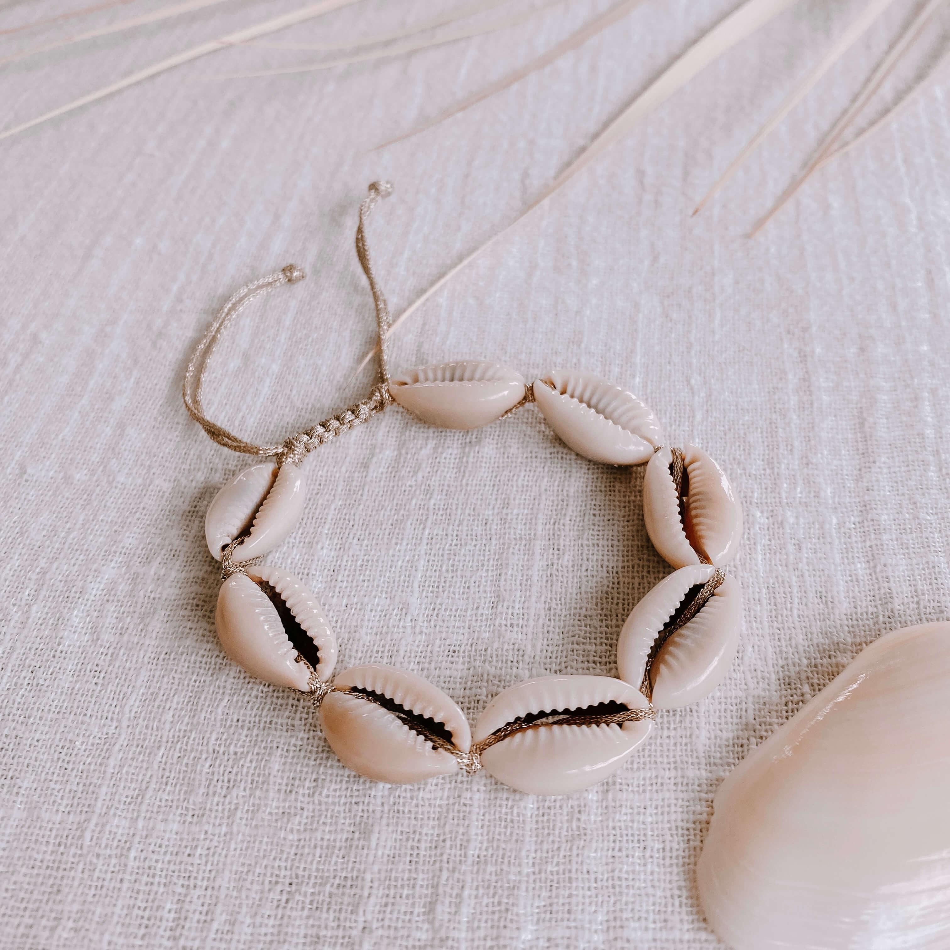 bracelet coquillages - bracelet de plage Cénélia - Alice