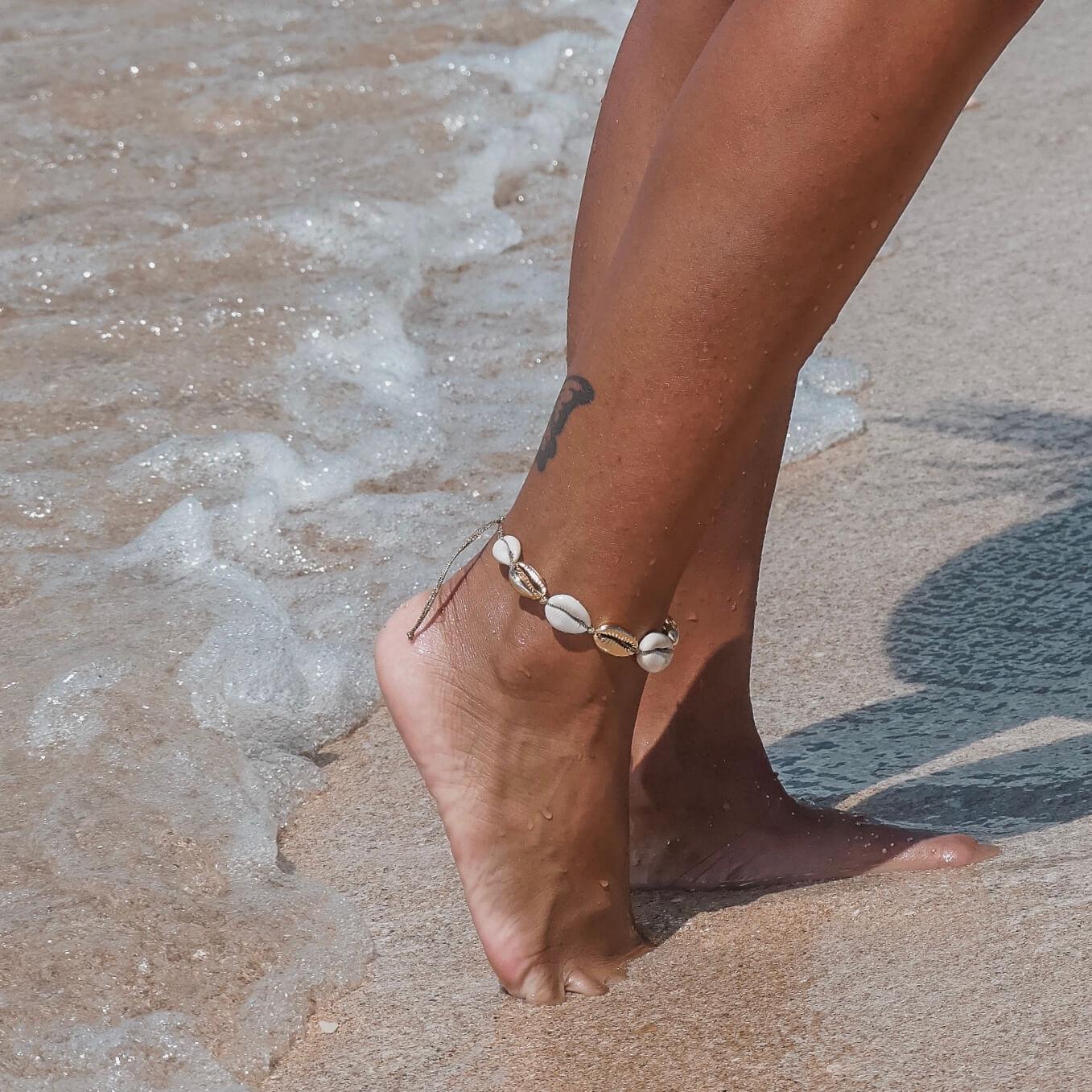 bracelet coquillages - chevillère de plage Cénélia - Alice