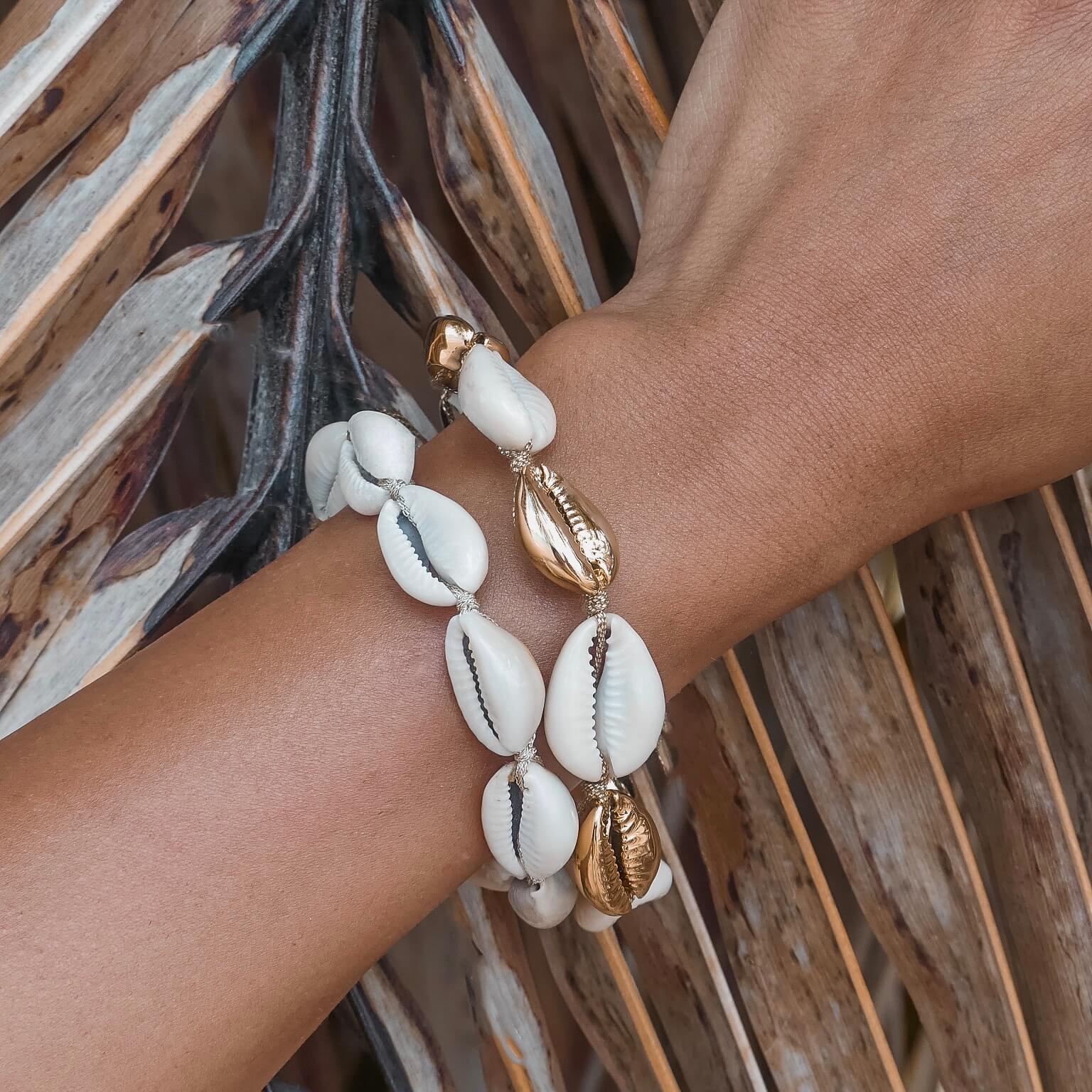 bracelet en coquillages - bracelet de plage Cénélia - Alice