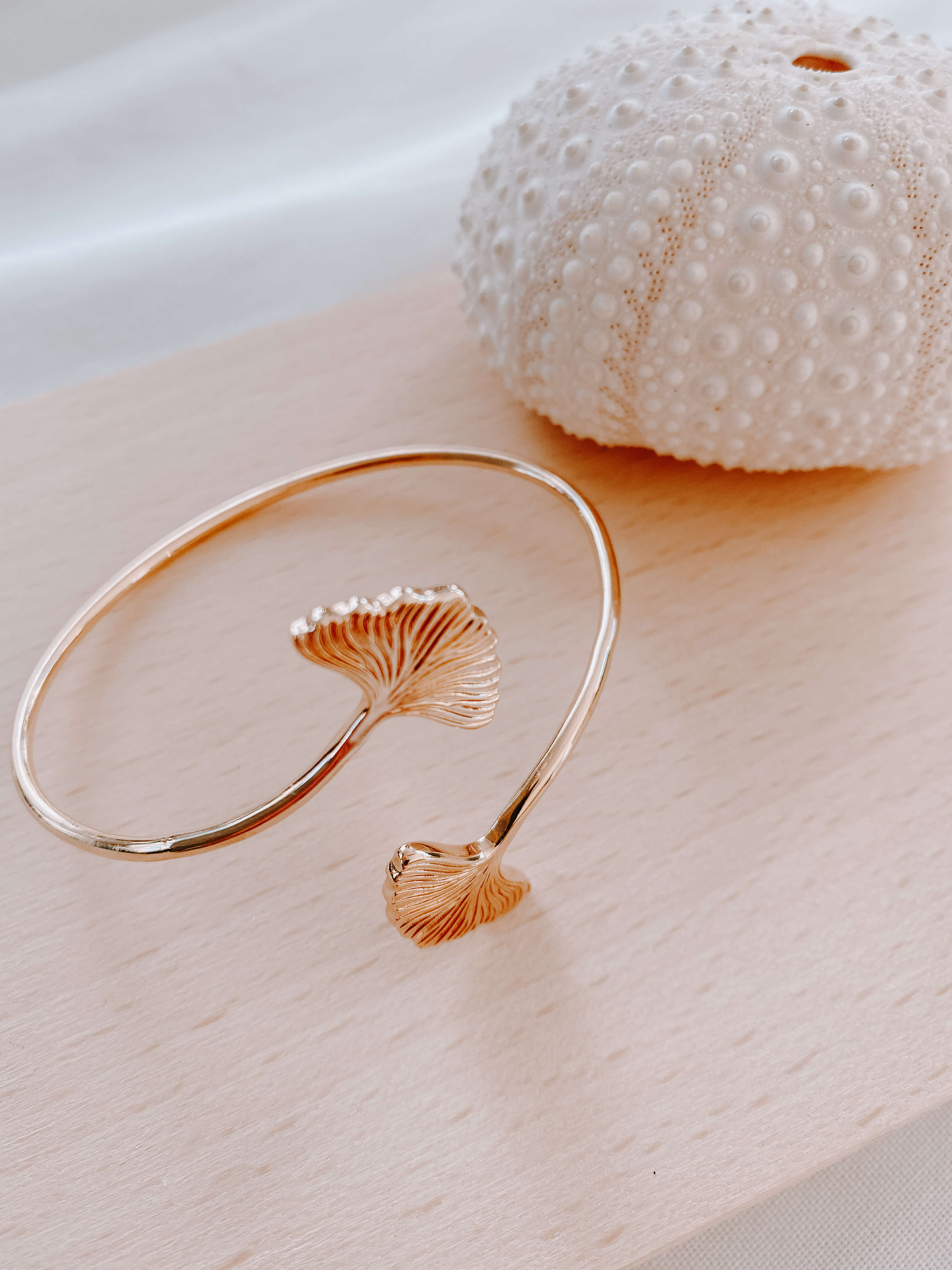 bracelet ginkgo - jonc doré mode - Cénélia