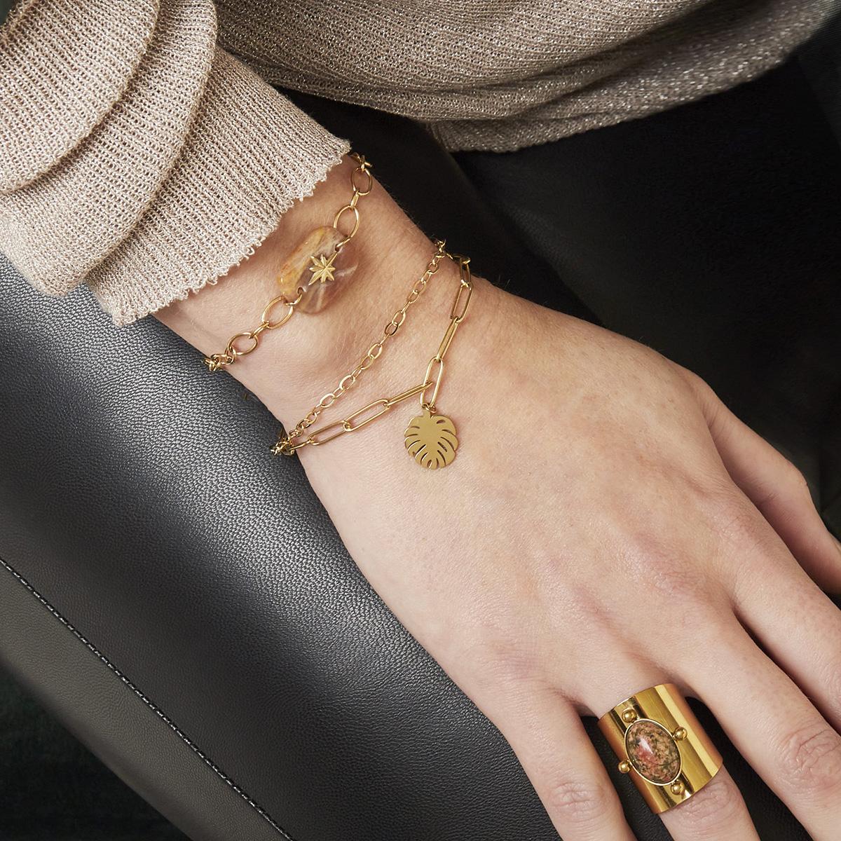 bracelet monstera | bracelet mode femme | Linda | Cénélia