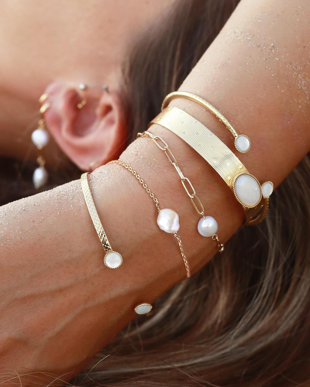 bracelet perle blanche - bracelet femme mode - Cénélia