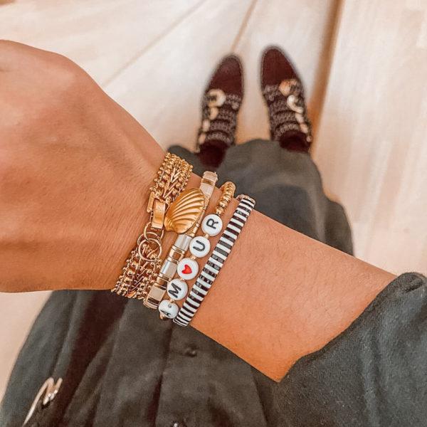 bracelet perles lettres - bracelet message mode instagram - Cénélia - Nell