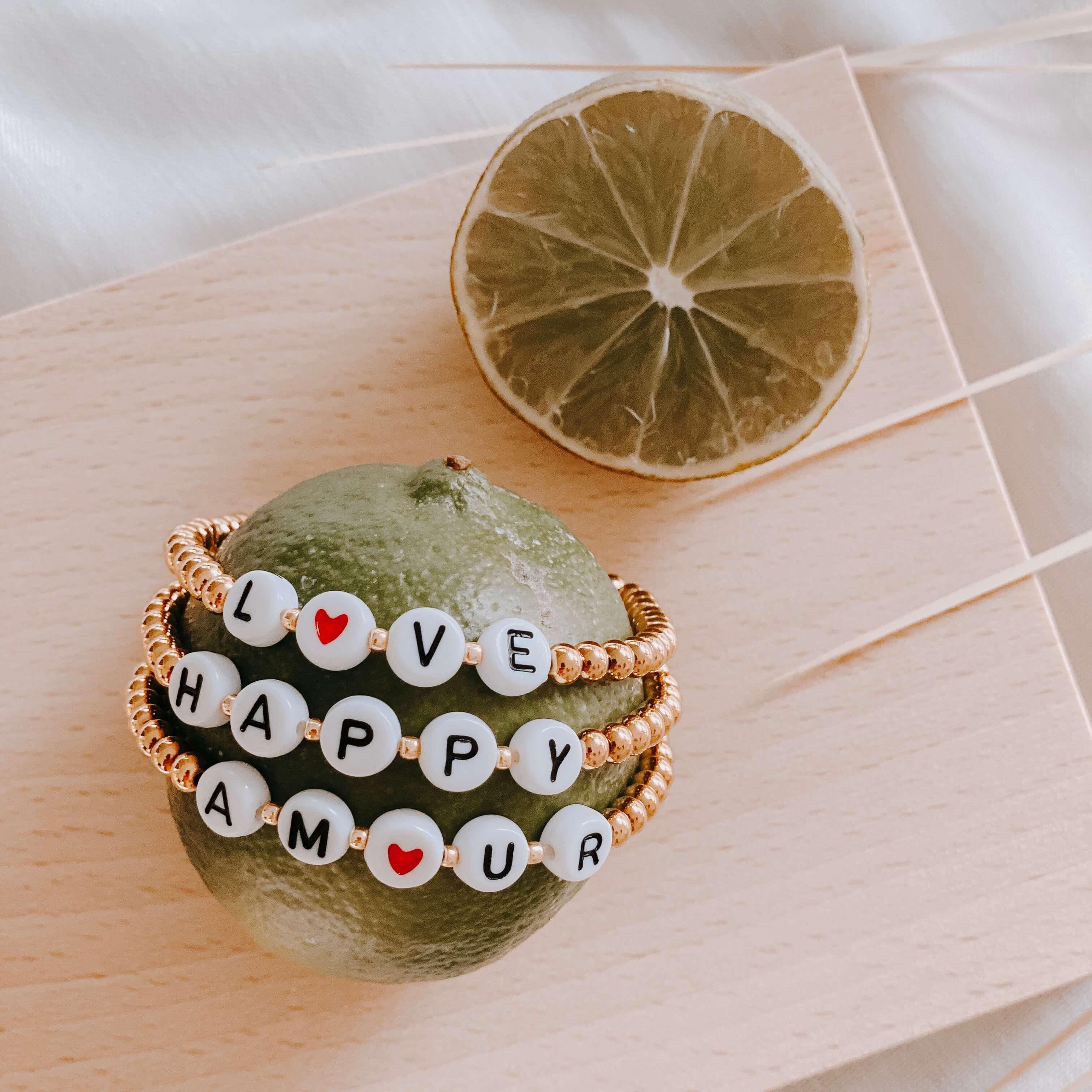 bracelet perles lettres - bracelet mode instagram - Nell - Cénélia