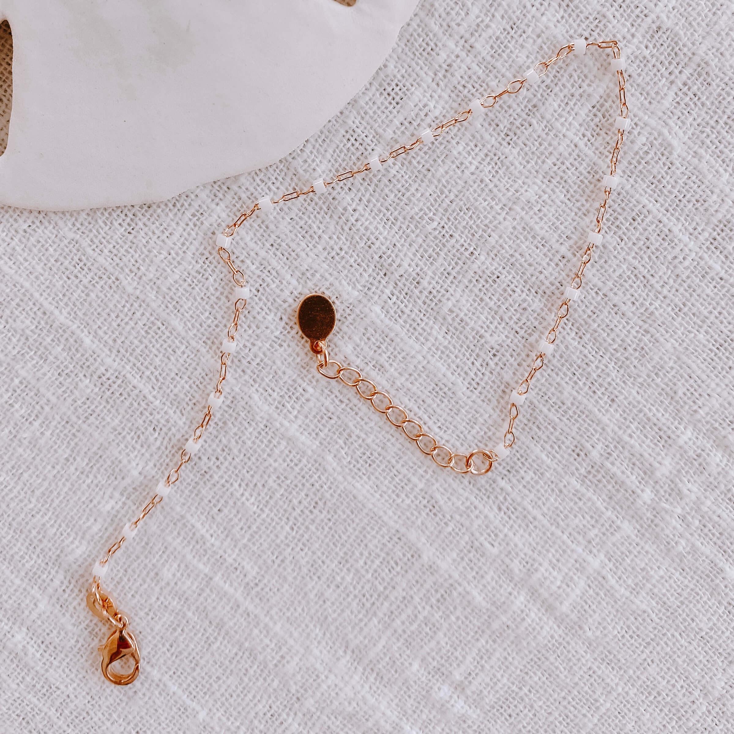 bracelet petites perles miyuki - bracelet perles blanches Cénélia - Jana
