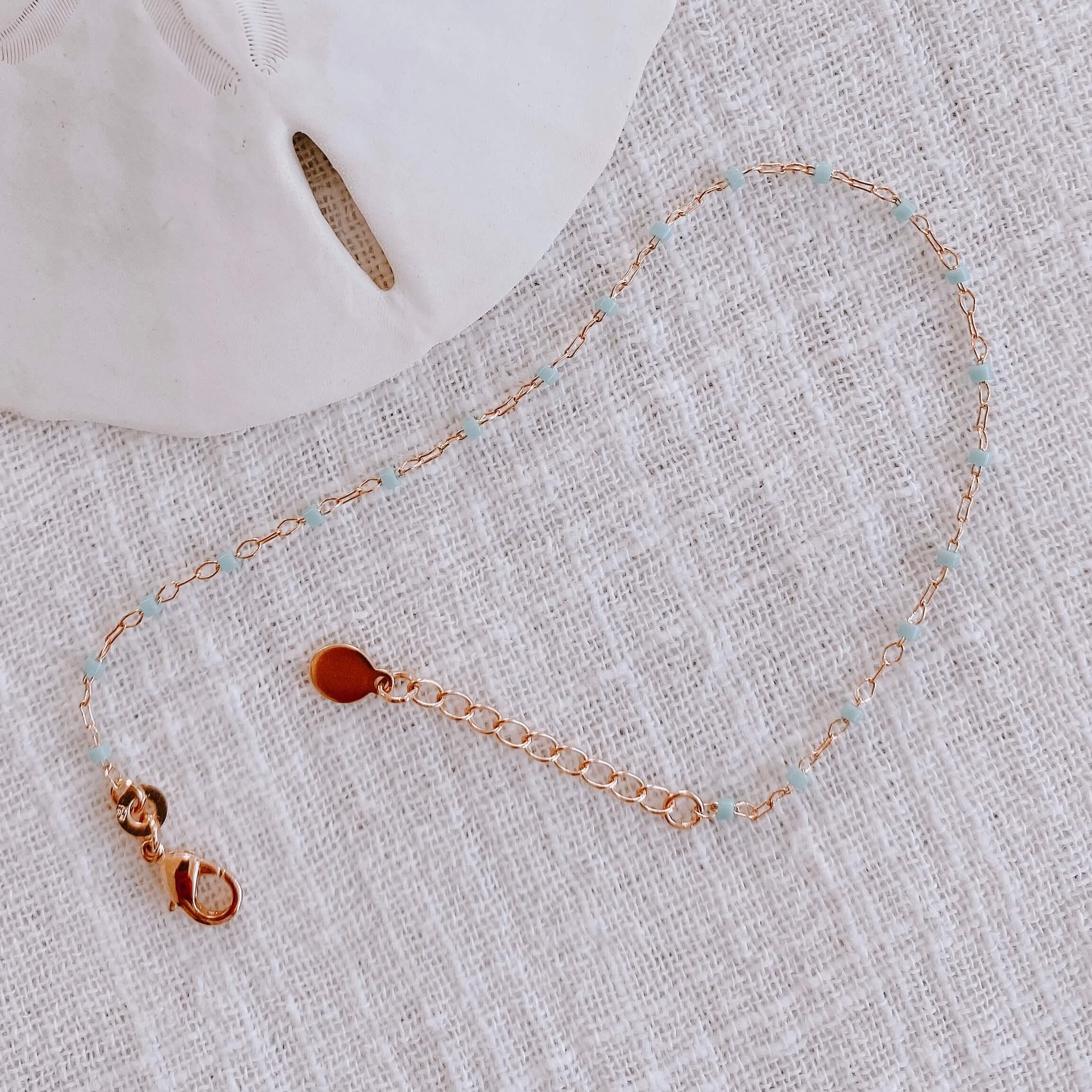 bracelet petites perles miyuki - bracelet perles turquoise Cénélia - Jana