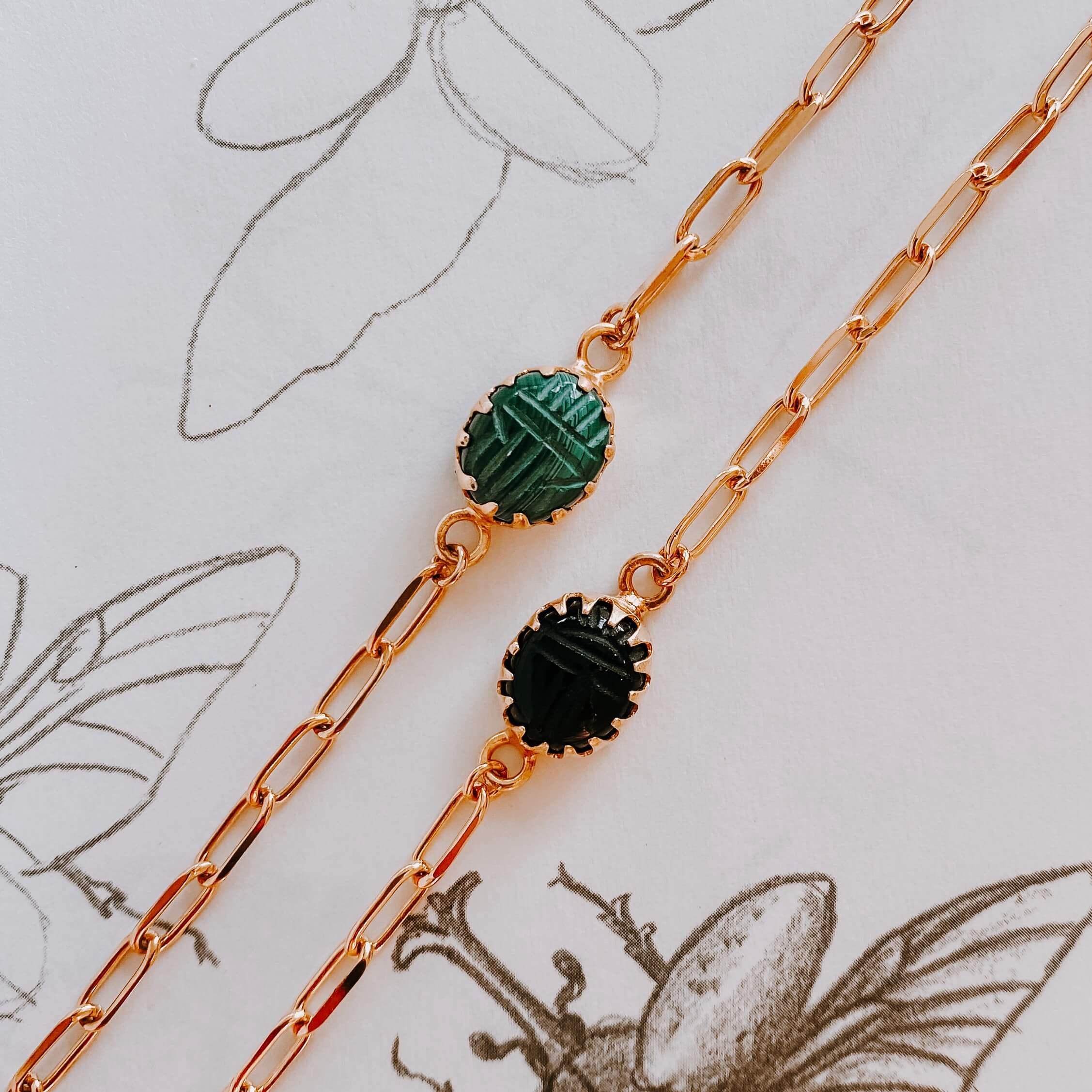 bracelet scarabée - Aïmata - Cénélia