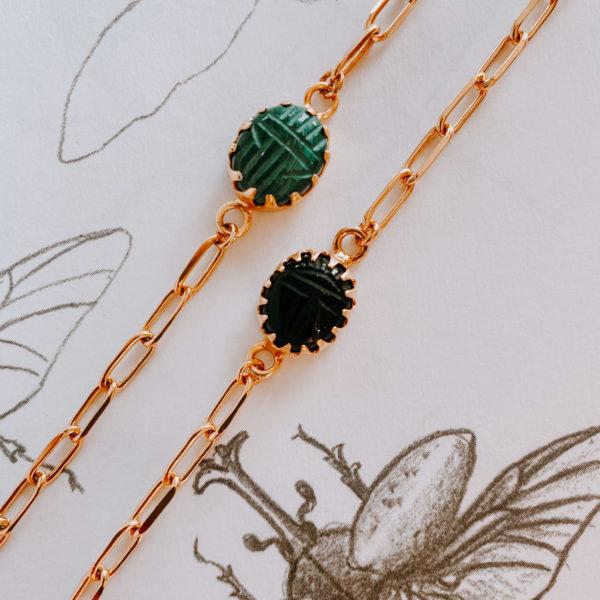 bracelet scarabée - bracelet femme mode - Aïmata - Cénélia