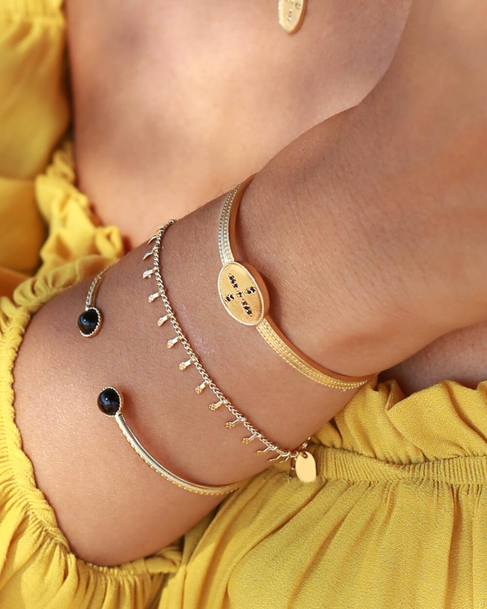 bracelet tendance doré - bracelet Coraline - Cénélia