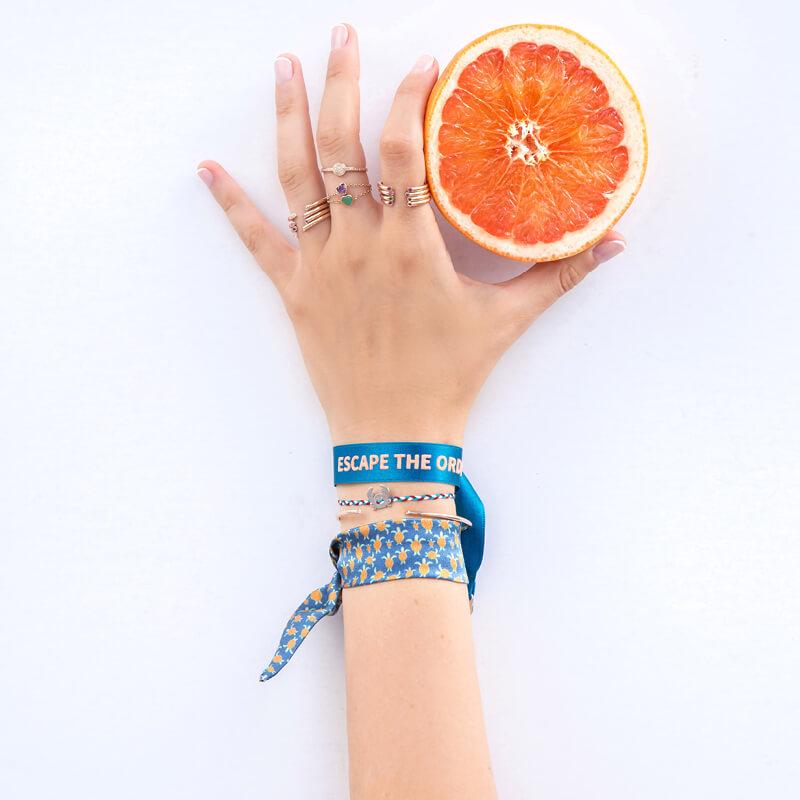 bracelet tortues - bracelet en soie femme - Tobago Cays - Cénélia
