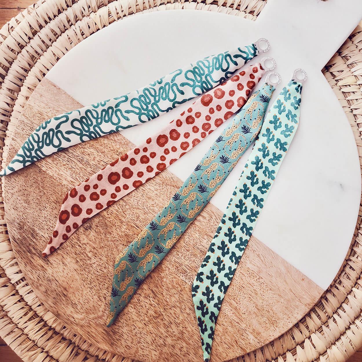 bracelet vert - bracelet femme - bracelet en soie Kaw - Cénélia