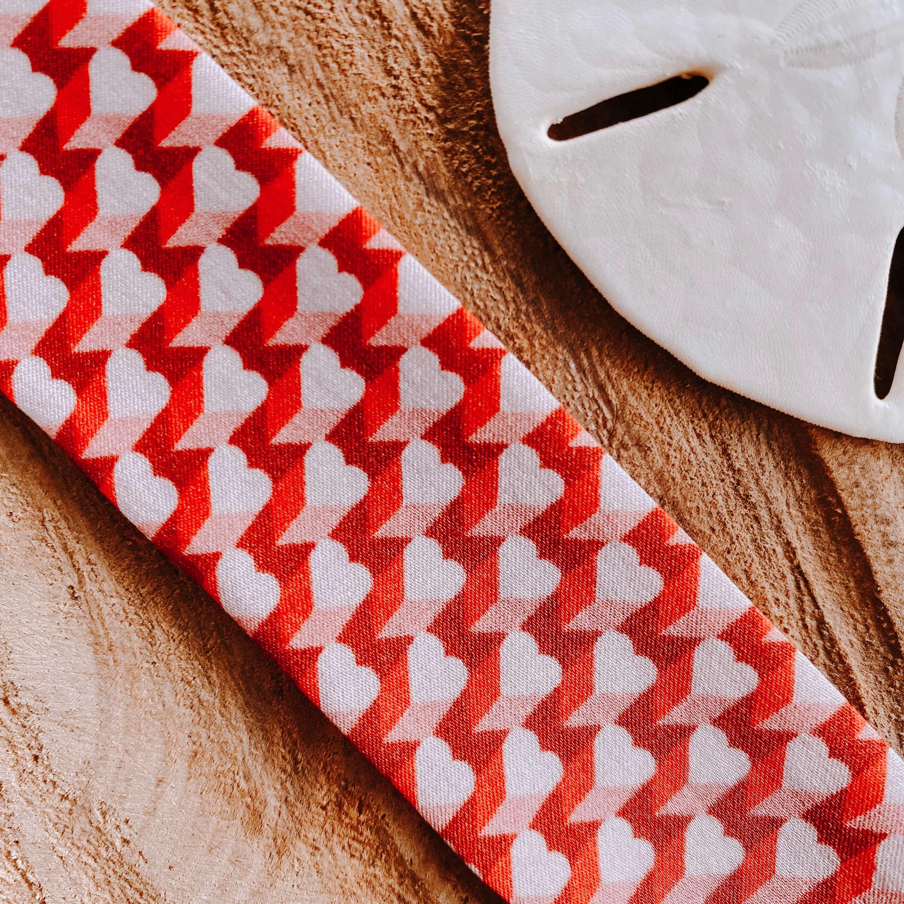 bracelets en soie coeurs blancs - Cénélia - Sinnamary