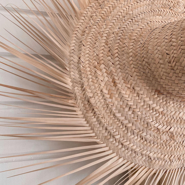 chapeau de paille à franges - Boutique décoration Martinique Cénélia