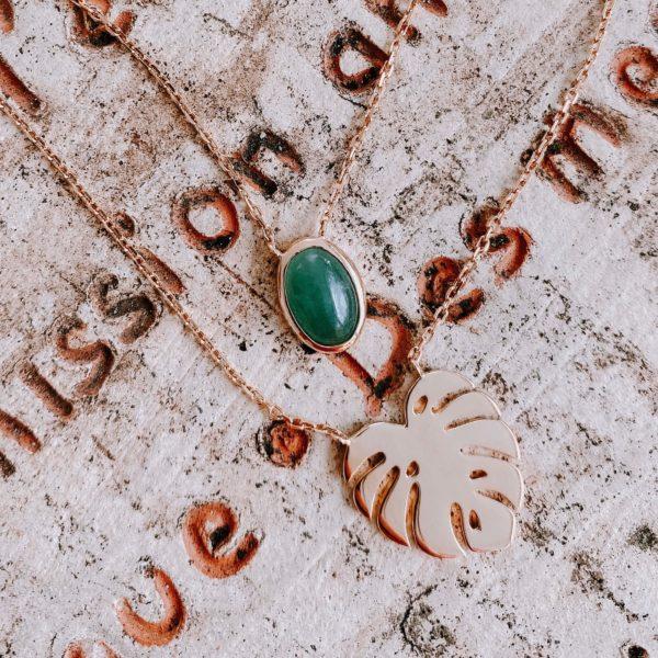 collier double Morne vert - Cénélia