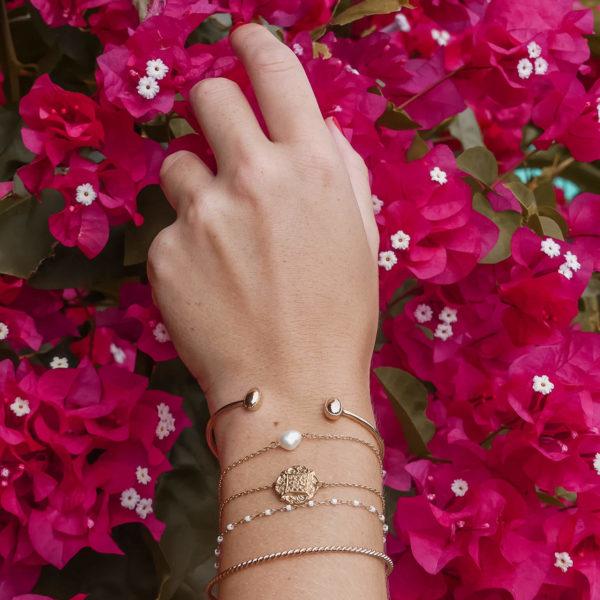 jonc fin Julia - bracelet jonc femme mode - Cénélia