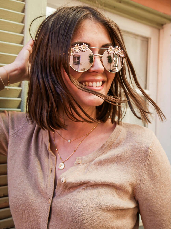 lunettes de soleil fleuries - Cénélia