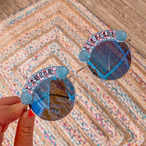 lunettes de soleil l'amour à la plage - Cénélia Martinique - lunettes polarisées femme mode