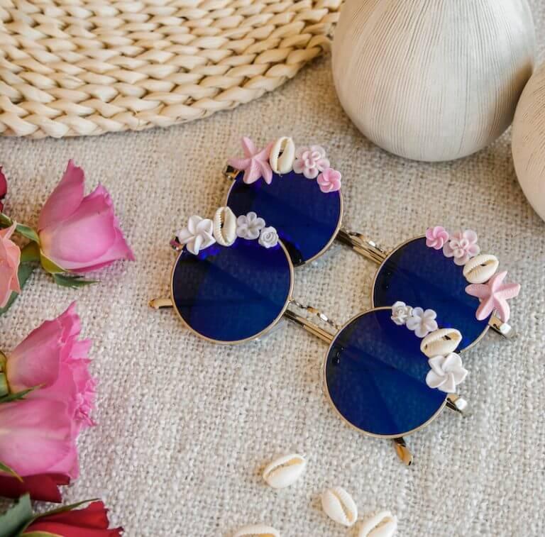 lunettes polarisées tendance - lunettes de soleil décorées - Cénélia - Océane