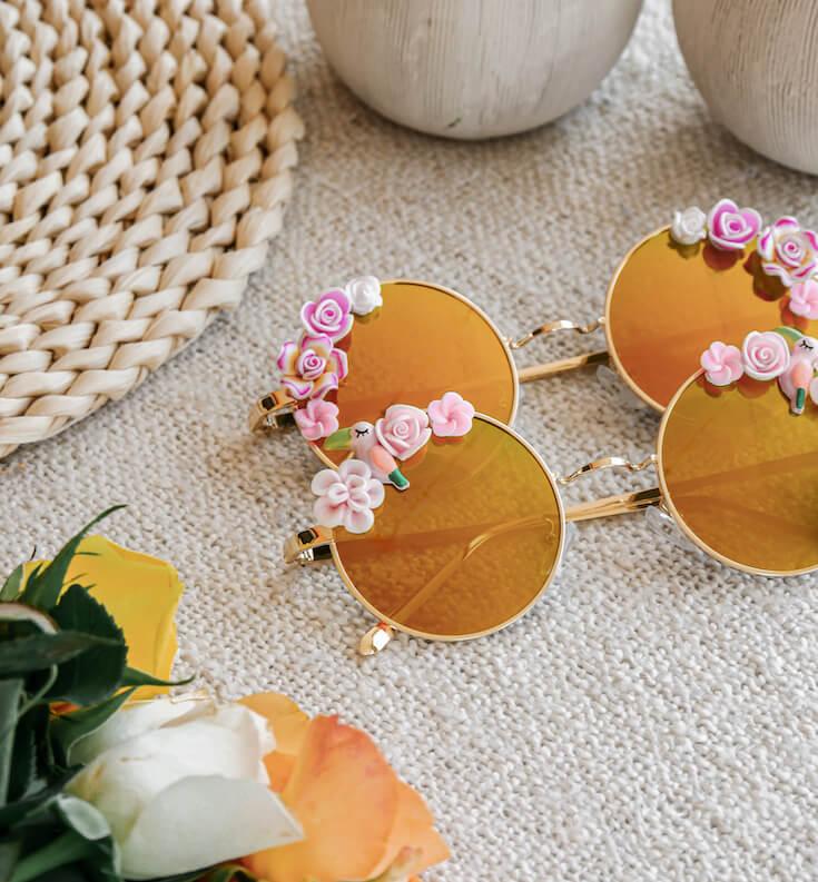 lunettes rondes bohème - lunettes de soleil colorées - Cénélia - Amalia