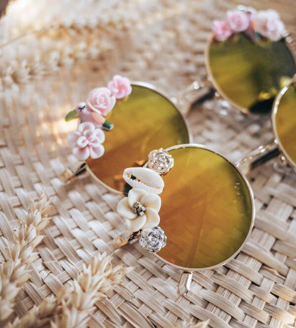 lunettes rondes bohème - lunettes de soleil femme polarisées - Cénélia - Amalia