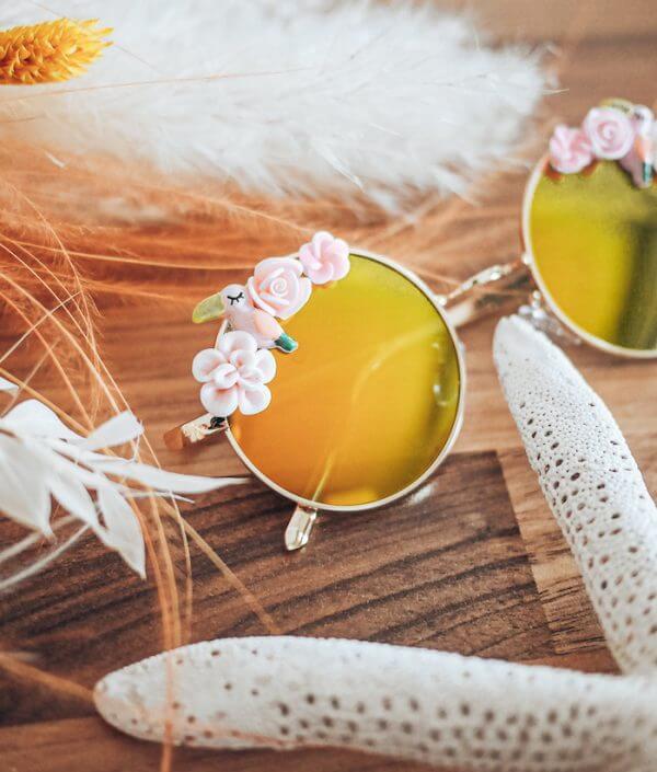lunettes rondes bohème - lunettes de soleil polarisées mode - Cénélia - Amalia