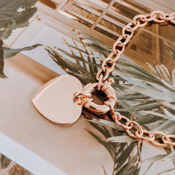 médaillon coeur femme plaqué or - Kiss Cénélia