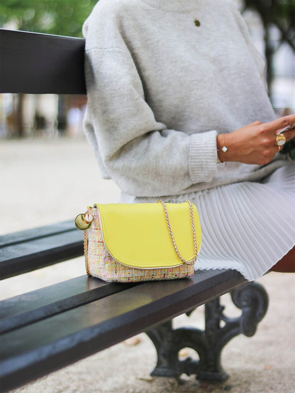 petit sac en tweed et cuir - Chloé - Cénélia