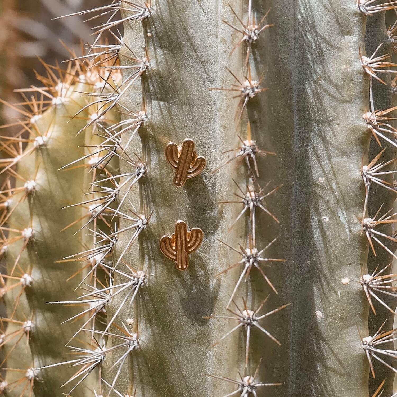 petites boucles d'oreilles cactus - Bjoux Cénélia
