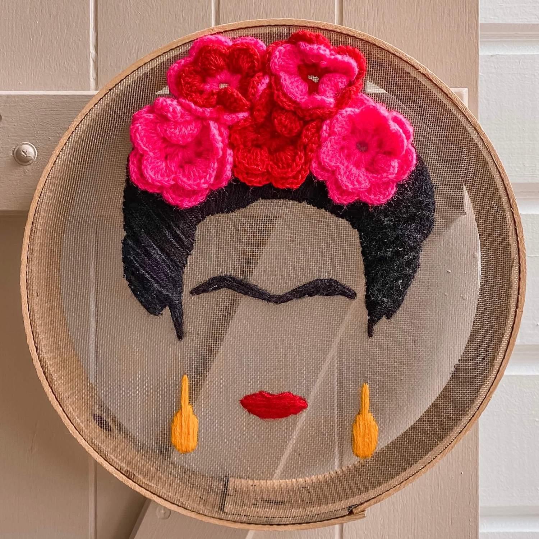 portrait de Frida Kahlo - boutique de décoration en martinique Cénélia