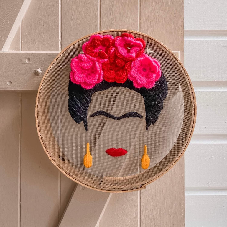 portrait de Frida Kahlo - boutique décoration martinique Cénélia