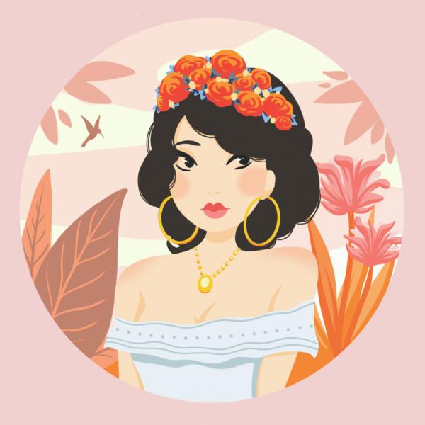 poster décoration tropicale | affiche déco tendance | Cénélia x Loubizz | Marie
