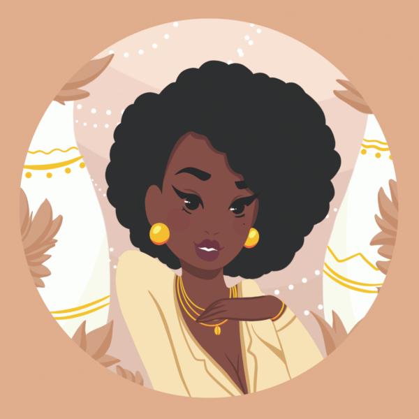 poster femme antillaise | affiche fille des îles | portrait femme antillaise | Axelle | Cénélia x Loubizz