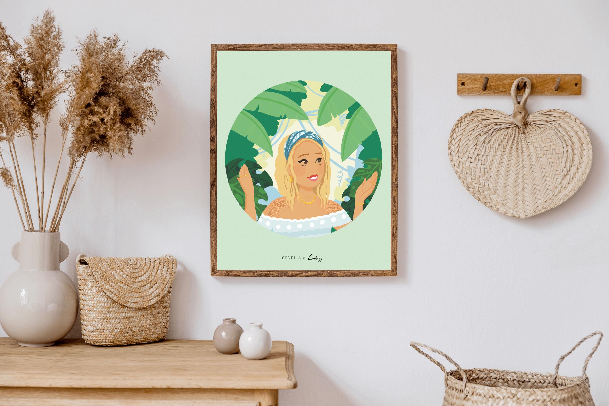 poster femme nature | poster décoration tendance | Cénélia x Loubizz | Louise