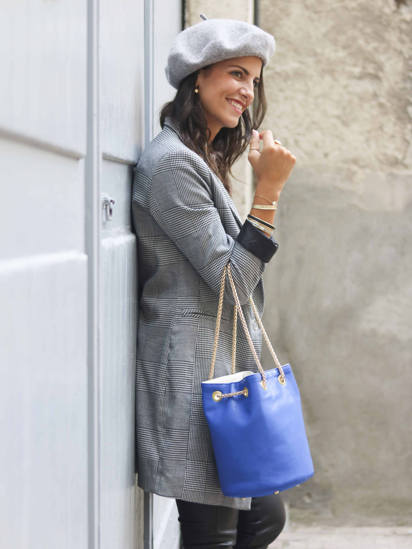 sac bleu klein | Cénélia | sac rond femme mode