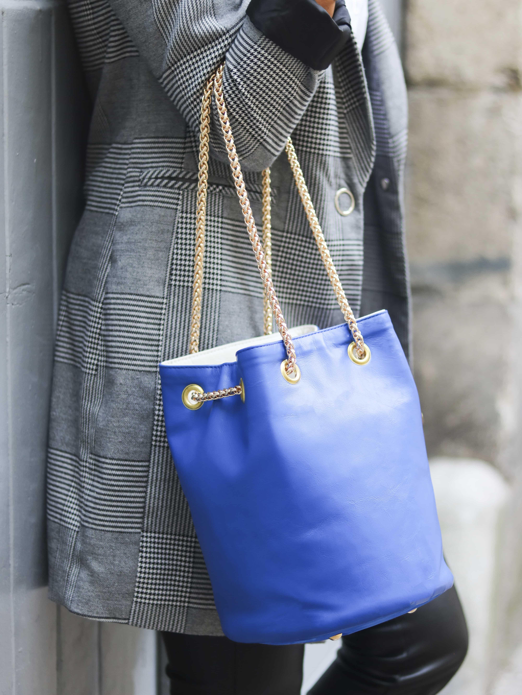 sac bleu klein | Cénélia | sac rond mode