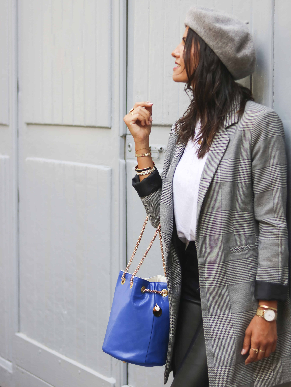 sac bleu klein | Zoé by Cénélia | sac rond femme mode