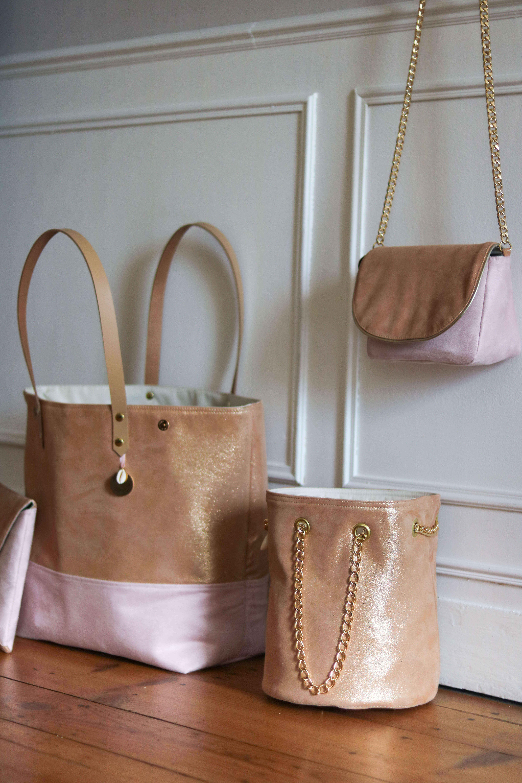 sac en cuir rose - Lola - sac femme mode - Cénélia