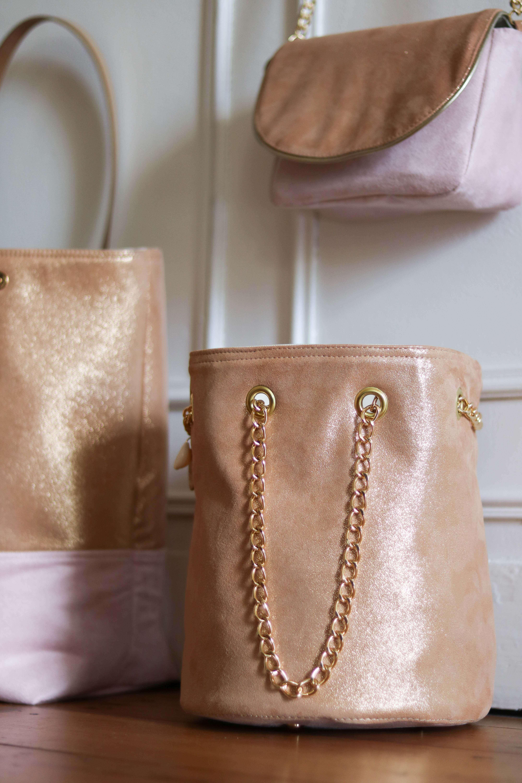 sac en cuir rose - Lola - sac femme tendance - Cénélia