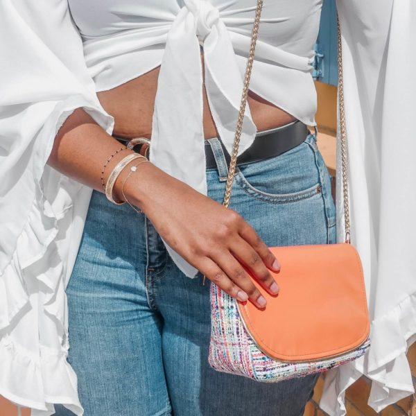 sac mode en tweed - sac à main coloré luxe - Cénélia