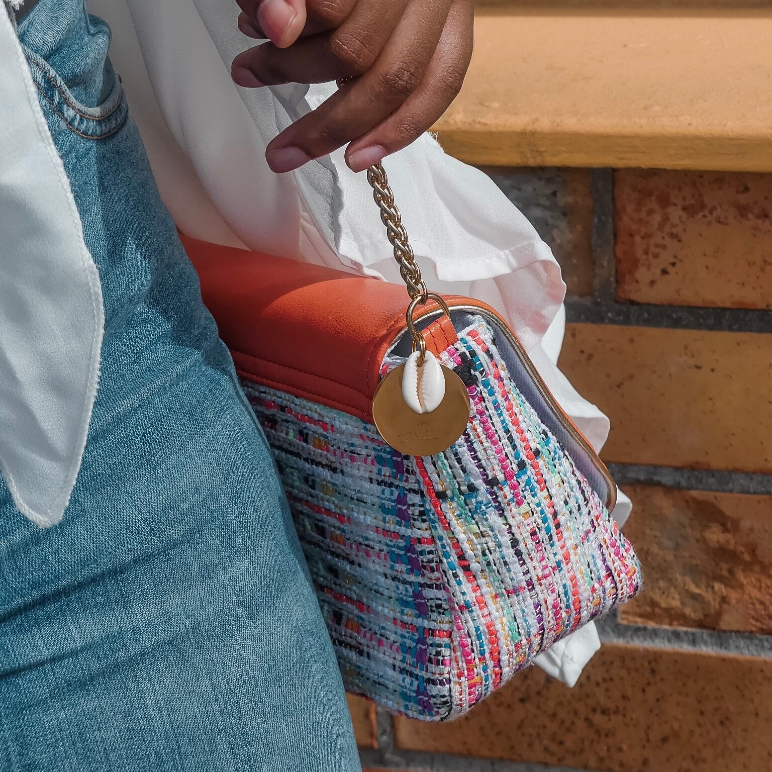 sac mode en tweed - sac femme coloré Cénélia