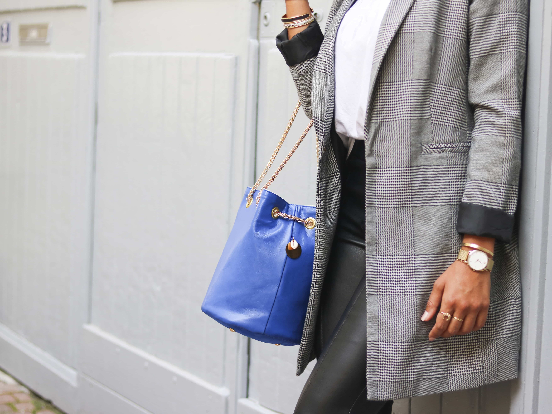 sac seau bleu klein | cénélia | zoé | sac femme mode