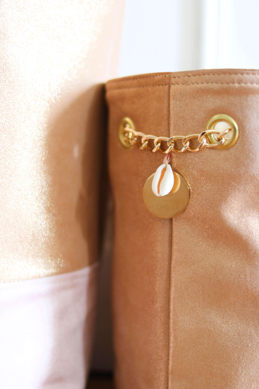sac seau en cuir rose - sac femme mode - Lola - Cénélia