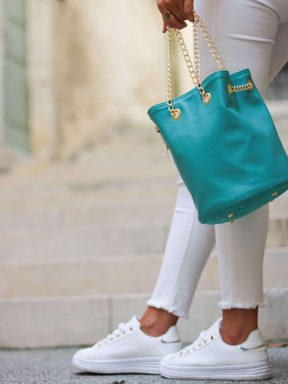 sac seau tendance cuir - sac femme mode Lou - Cénélia