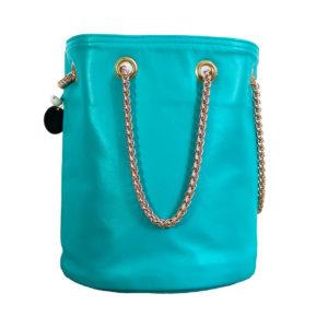 sac seau tendance cuir - sac rond mode femme fait en France - Lou - Cénélia