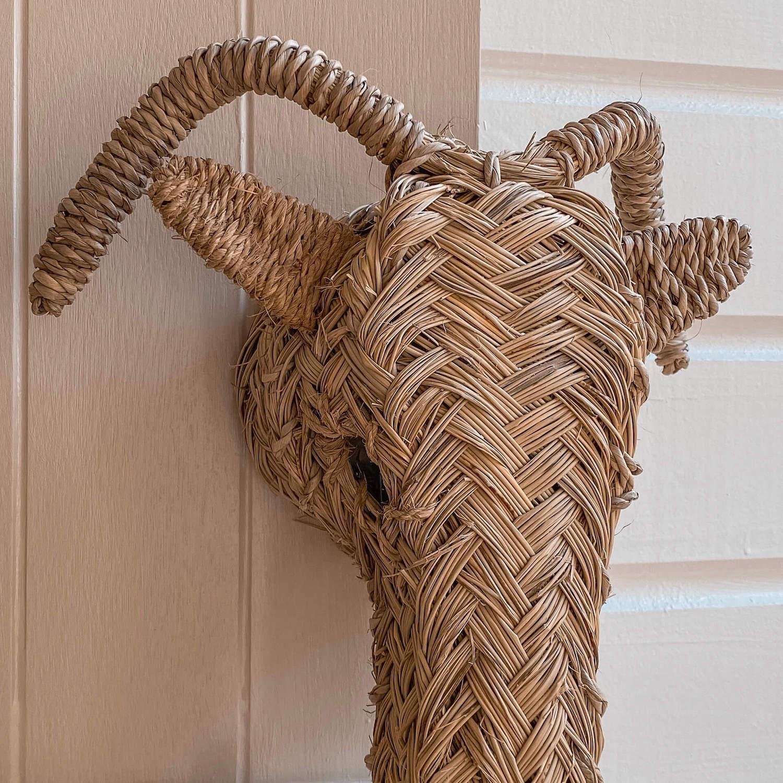 tête de bélier décorative - boutique de décoration Martinique Cénélia