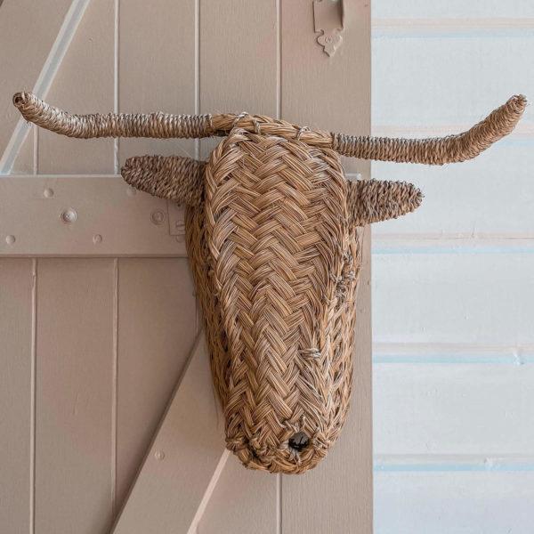 tête de boeuf décorative - boutique de décoration en Martinique Cénélia